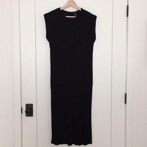 Black Knit Midi Dress